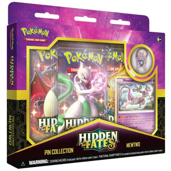 hidden fates mewtwo pin collection